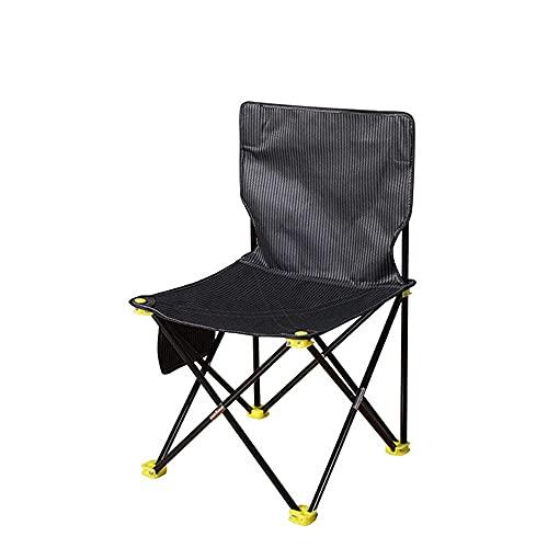 Silla de Camping portátil Plegable compacta para mochileros Silla de Playa Plegable para Exteriores Silla portátil-S Negra Silla Plegable compacta y Liviana