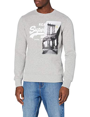 Superdry Heren Vl NYC Photo Crew Sweater