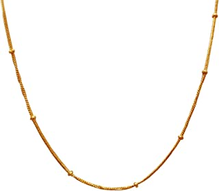 INFINITY Gold Plated Brass Fancy Chain for Women,Girls ,Boys (Pack of 1)