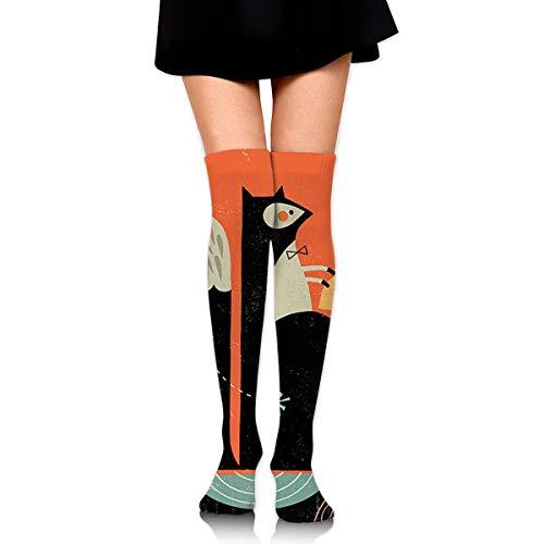 PecoStar Damen Eichhörnchen Blog Overknee Socken Hohe Stiefel Lange Beinwärmer für Party Kostüm