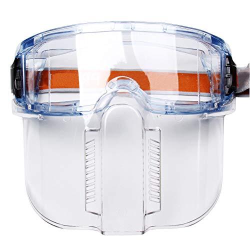 Sicherheits Vollsichtbrille Protection Schutzbrille Einstellbarer Kopfbügel/Anti-Schock/Anti-Staub/Anti-Spritz/Leichtgewicht/Hohe Lichtdurchlässigkeit Geeignet Fü Krankenhaus/Fabrik/Fahren,Weiß