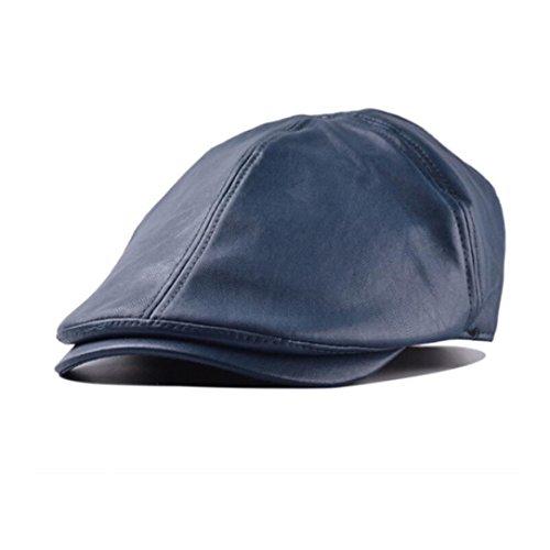 Xinantime Sombrero, PU Cuero Gorra Boina Sombreros