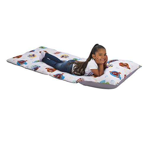 Disney Muppet Babies - Blue, Green, Red, Yellow & Grey Deluxe Easy Fold Toddler Nap Mat, Blue, Green, Red, Grey