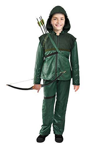 Ciao-Arrow Freccia costume bambino originale DC Comics (Taglia 8-10 anni) Disfraz para nios, color verde, marrn (11708.8-10)