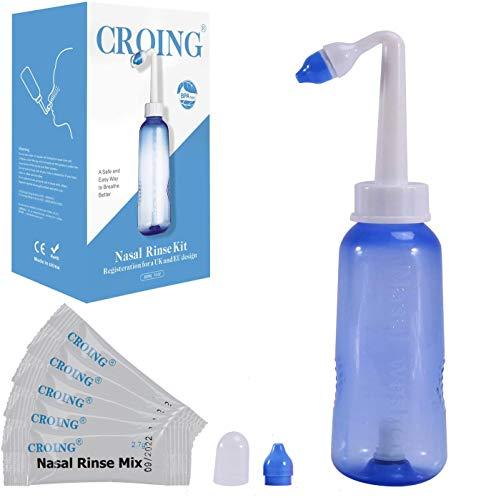 300ml Bottiglia 30 Pacchetto Di Sale Irrigatore Nasale Per Lavaggi Nasali Neti Lota Per Irrigazione Nasale Con Due Beccucci Nasali Sale Sinus Rinse Kit