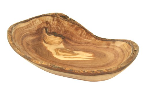 D.O.M. Schale oval rustikal Größe 1 aus Olivenholz