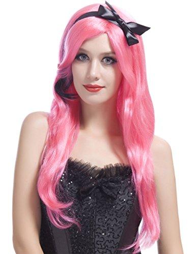 Generique - Perruque Longue Rose Glamour Femme
