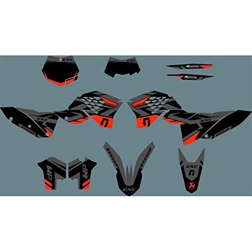 Graphic Hintergrund Abziehbilder Aufkleber for KTM SXF SX SXF 2007 2008 2009 2010 XCF XCF EXC EXC-F 2008 2009 2010 2011 Motorrad Kraftstofftank (Color : As Shown)