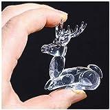 YU FENG Figura animal de cristal Pequeña figura de ciervo Adorno de cristal decorativo Regalo (ciervo)