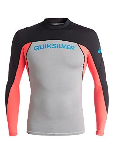 Quiksilver Men's Performer Long Sleeve Surf Tee Rashguard, Dark Shadow/Sulphur Springs, Small