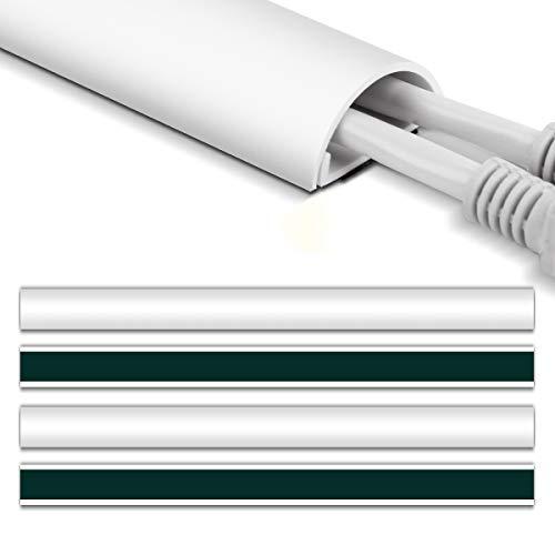 配線カバー、Stageek 6メートル 配線モール コントロールチャンネルシステム、コンピュータオーガナイザー隠しコードカバー、電線ケーブルカバーケーブルプロテクター テープ ケーブル モール コードプロテクター ホワイト16X 39 * 2.5 * 1.