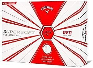 Callaway Golf Supersoft Golf Balls, (One Dozen), Red, Matte Finish