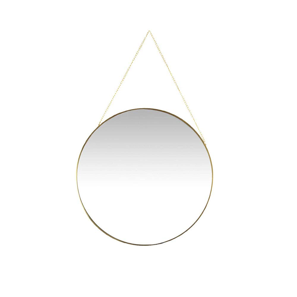 Affomo Hanging Wall Mirror Round Small Wall Decor Gold Mirror With Chain For Home Decor Bathroom Bedroom Living Room Buy Online In Canada Missing Category Value Products In Canada