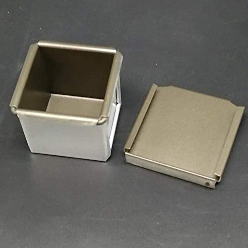 LHQ-HQ 60 * 60 * 60mm Herramientas de teflón Cuadrado de la Caja de Pan Tostado estaño Pan del Pan Pan de aleación de Aluminio de Revestimiento Antiadherente for Hornear