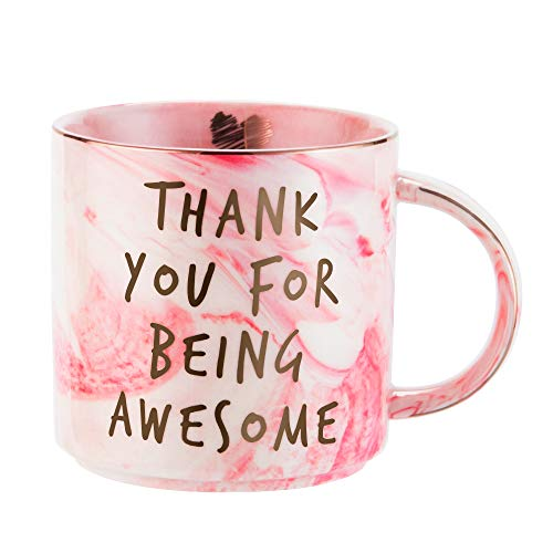Thank You Gifts - Funny Gifts Ideas for Women Friends, Coworkers, Boss, Employee - Inspirational, Thoughtful, Birthday, Friendship, New Job, Graduation Presents for Her - Ceramic Coffee Cup