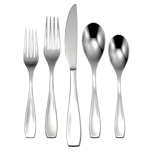 Oneida H208045A Calm 45PC (3) flatware-sets, Silver