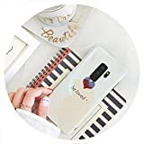 Corea Japón Amor Lindo del corazón BLU Ray Caja del teléfono de la Cubierta Suave para el iPhone X 6 7 8 6s Borde Ventaja para Samsung Galaxy...