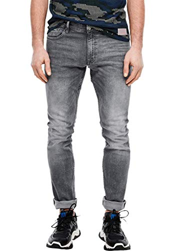 Q/S by s.Oliver Herren Slim: Schmale Stretchjeans grey 31.32