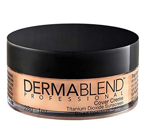 Dermablend Professional Cover Creme - Full Coverage, All-Day Hydrating Cream Foundation - Dermatologist-Created, Fragrance-Free, Allergy-Tested - Broad Spectrum SPF 30-20W Cashew Beige - 28g