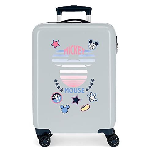 Disney Mickey Mickey Denim Valigia da cabina blu 38 x 55 x 20 cm rigida ABS chiusura a combinazione laterale 34 2 kg 4 ruote doppie bagaglio a mano