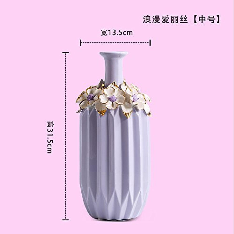 KIKIXI European American Salon Violet Décoration Vase en céramique fonction créative moderne meuble TV Vin décoration, Vase moyen