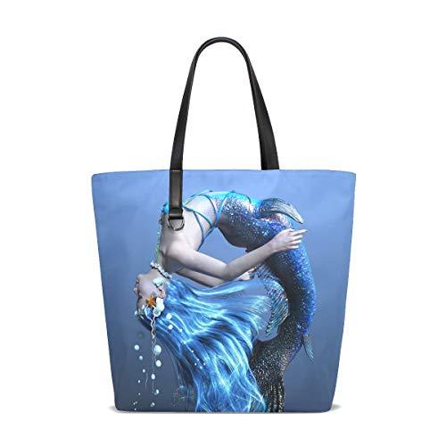 FANTAZIO Bolso de hombro para mujer con diseño de sirena 3D CG