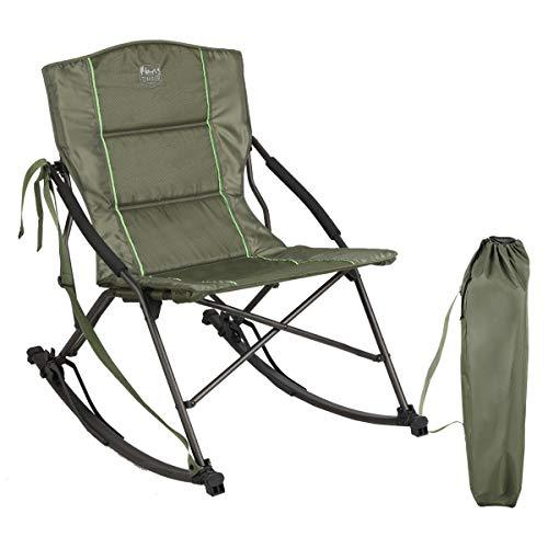 TIMBER RIDGE ロッキングチェア 折りたたみ式 ワンタッチ キャンプ 簡単 持ち運び 布地 収納バッグ付