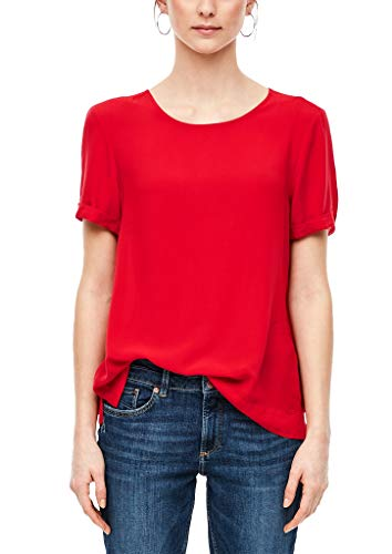 Q/S designed by - s.Oliver Damen Bluse Kurzarm red 40