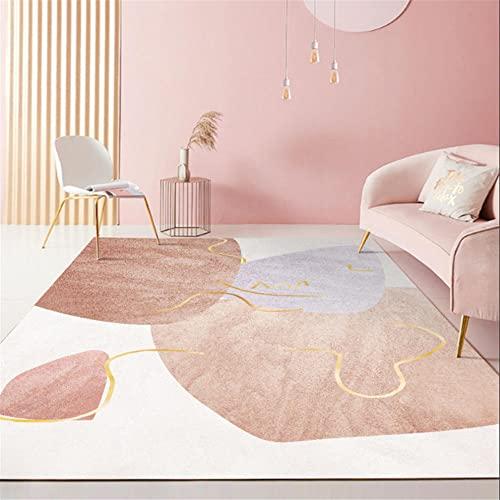 alfombra gaming suelo alfombra jardin exterior Alfombra rosa decoración de la sala de estar del dormitorio antideslizante, a prueba de caídas y sin decoloración cuadros cabecero cama matrimonio 40X60C