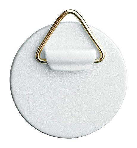 Home Xpert Selbstklebe-Aufhänger mit Messingöse, Kunststoff weiß Ø 42 mm