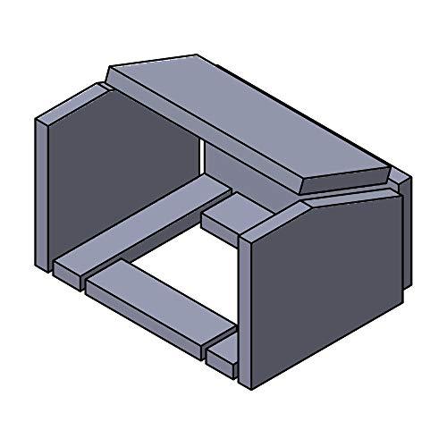 Flamado Feuerraumauskleidung Komplettset 8-teilig passend für HWAM Kamin Ersatzteile Kaminofen Brennraumauskleidung Vermiculite 1.150°C