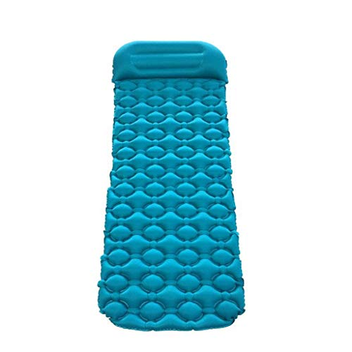 Cama inflable doble Colchoneta hinchable con almohada Ultraligero cojín que acampa impermeable colchón de aire que infla la cama individual plegable cama de aire inflable cama inflable electrica