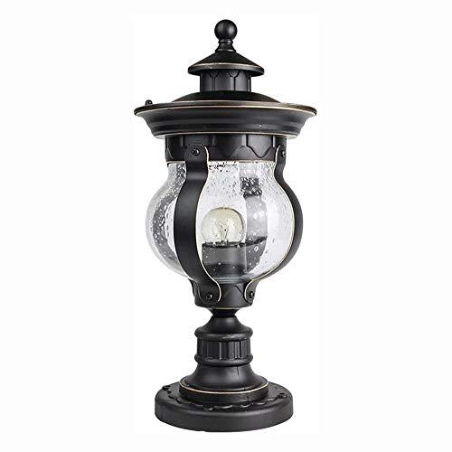 WERCHW Luz de Pared Exterior, Instalaciones Negro Pared Exterior Impermeable Linterna Simple Moderna Porche Luces de Montaje en Pared con Vidrio Transparente, Shade Pared