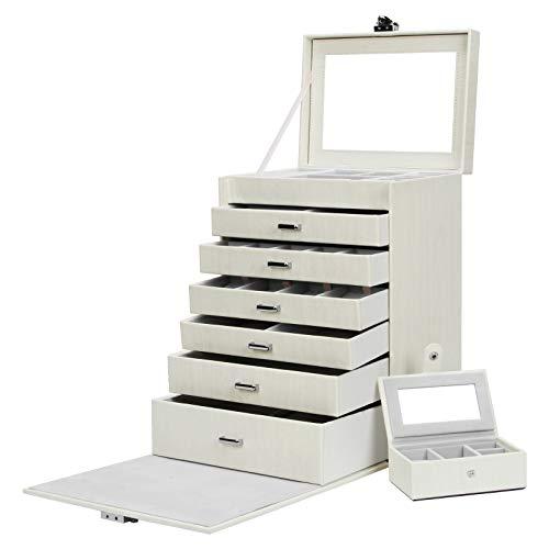 Yorbay Caja Joyero Bloqueable, Caja de joyería de Viaje
