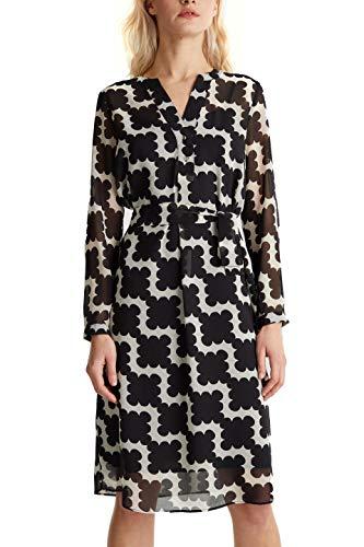 ESPRIT Collection Damen 040EO1E313 Kleid, 003/BLACK 3, 38