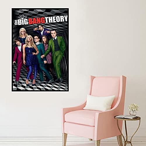 shuimanjinshan Big Bang Theory Movie Poster Wall Artist Home Decoration Canvas Art Nordic Living Room Hotel Bar Cafe (Pe-399) 50x70cm No frame