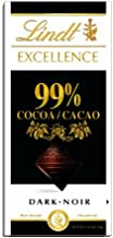 Lindt EXCELLENCE 99% Cocoa Dark Chocolate Bar, 3.5 oz, 12 Pack