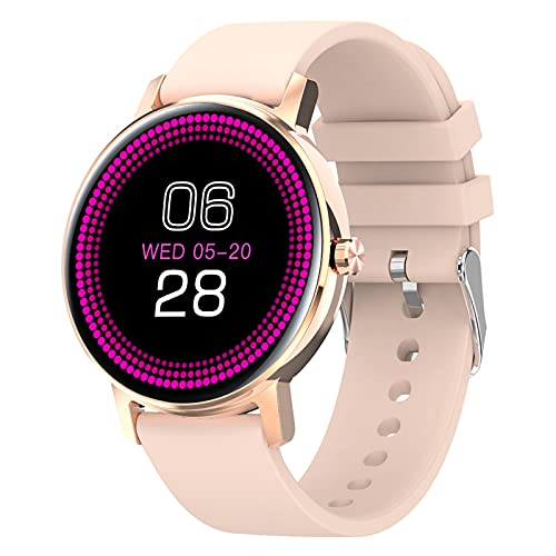 Rvlaugoaa Smartwatch para Mujer, Llamada Bluetooth Pulsera Deportiva para Mujer, Rastreador De Ejercicios, Contador De Calorías, Reloj Inteligente Impermeable para Teléfonos iPhone/Android