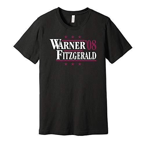 Warner & Fitzgerald '08 - Camicia Parodia Campagna Politica - Versione Rossa e Bianca - Stampa Death Ray Nero L