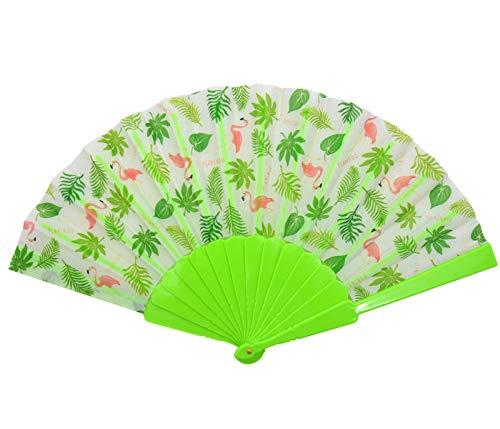 Rockabilly - Abanico de papel veneciano plegable para el verano (ancho: 42...