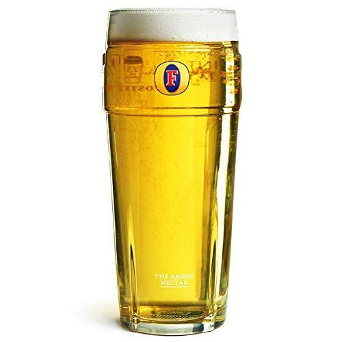 Vaso de cerveza, con logo de Fosters