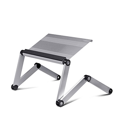 Furinno A6-F-Silver Ergonomics Aluminum Vented AdJustable Laptop Tray, Silver