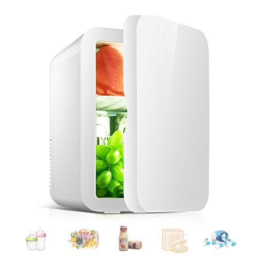 Mini Nevera, Refrigerador PortáTil de 8 Litros y Refrigerador Personal MáS CáLido, Ideal para Dormitorio, Oficina, AutomóVil, Dormitorio,White