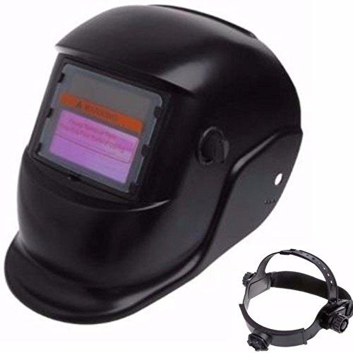DOBO Maschera casco autoscurante per saldare saldatura con regolazione sensibilità e ritardo oscuramento e fascia dietro nuca regolabile con pannello solare di ricarica
