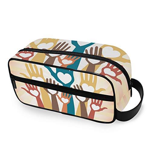 Trousse de toilette Voyage Organisateur portable Elements Hands Up Storage Maquillage Sac Outils Cosmetic Train Case