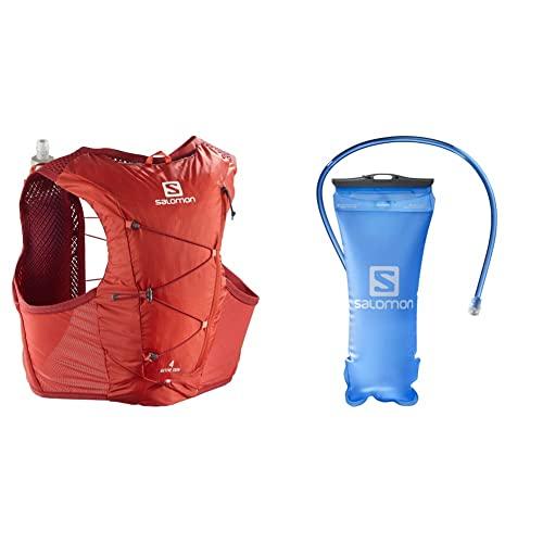 SALOMON Active Skin 4 Set Chaleco 4L Unisexo 2x Soft Flasks Incluidas Trail Running Senderismo + Soft Reservoir Tanque Flexible 1.5L Trail Running Senderismo