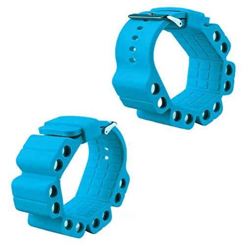 LIDIWEE Silikonarmband 2 Stück Krafttraining Knöchel/Handgelenk Gewicht Fitness Training Gewichtetes Armband Tragbare Weibliche Und Männliche Knöchellast Armbänder