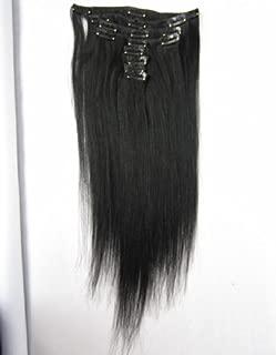 SINA Virgin Brazilian Human Hair Weaves Straight Hair new arrival 9pcs/Set Color #1b 20 inches Brazilian Straight Hair clip in Human Hair Extensions