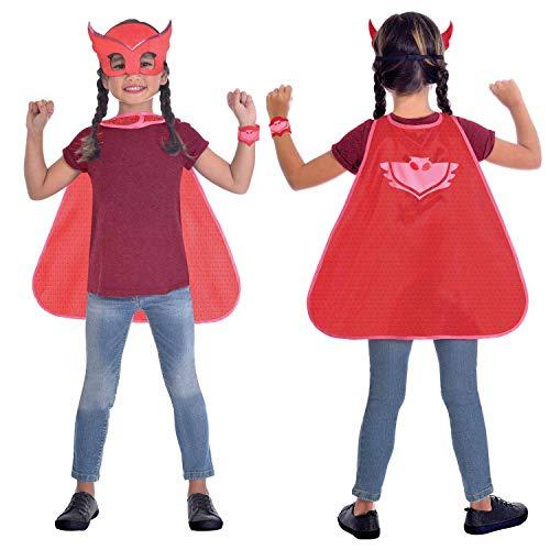 Conjunto de disfraz de capa roja con diseño de búho, 1 unidad, 3 – 7 años