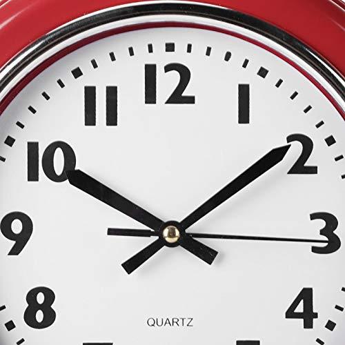 KIKYO Reloj de pared rojo, estilo vintage, para colgar en la pared, para el hogar, cocina